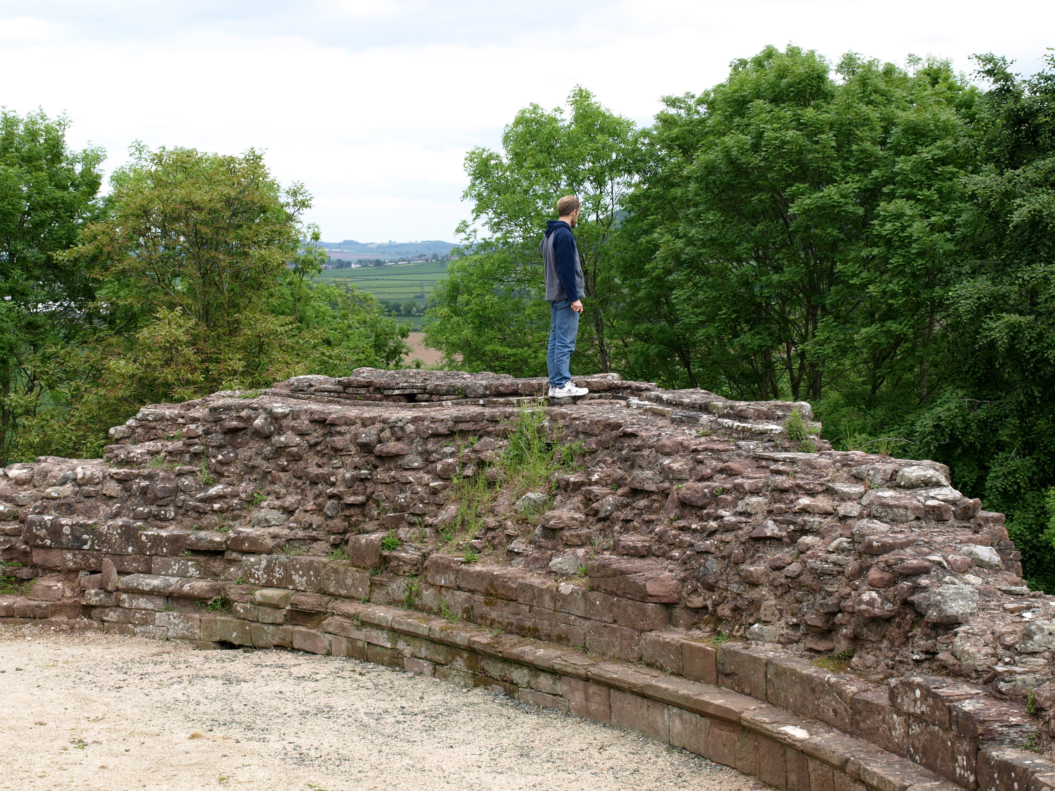 Alec Atop the Barbican Walls